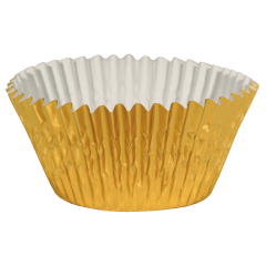 2.5 in Gold Foil Baking Cups 1500 ct.