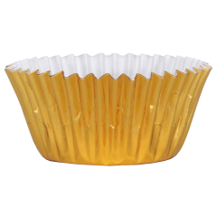 3 in Gold Foil Baking Cups 1500 ct.