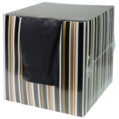 5 in Coin Embossed Black Beverage Napkins with Decorative Packaging 900 ct.