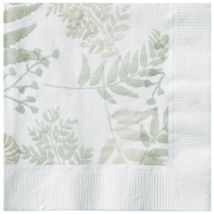 5 in Earth Wise Greenery Beverage Napkins 1000 ct.