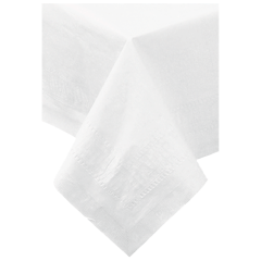 54 in x 108 in Greek Key Embossed White Paper Tablecloths 25 ct.
