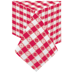 54 in x 54 in Red Gingham Paper Tablecloths 50 ct.