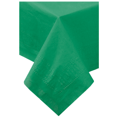 54 in x 108 in Green Paper Tablecloths 25 ct.