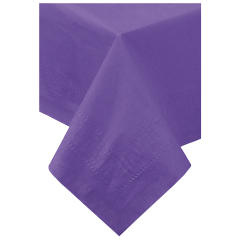 54 in x 108 in Purple Paper Tablecloths 25 ct.