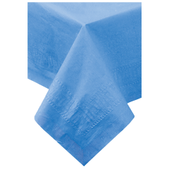 54 in x 108 in Marina Blue Paper Tablecloths 25 ct.