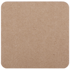 4 in Square Kraft Budgetboard Coasters 1000 ct.