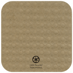 4 in Square Kraft EcoWave Coasters 1000 ct.