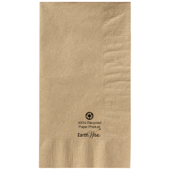 7.5 in x 4.25 in EarthWise Kraft Dinner Napkins 1000 ct.