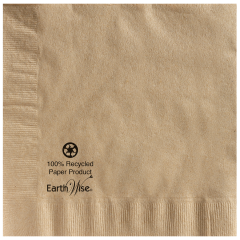 8.5 in x 8.5 in EarthWise Kraft Dinner Napkins 1200 ct.
