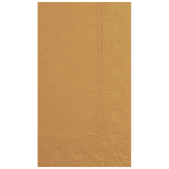7.5 in x 4.25 in Regal Embossed Glittering Gold Dinner Napkins 1000 ct.