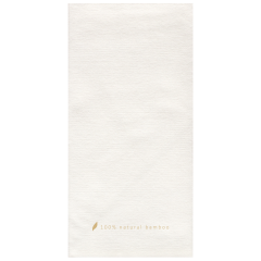 8 in x 4 in Bello Lino White Bamboo Dinner Napkins 600 ct.