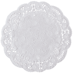 8 in White French Lace Doilies 1000 ct.