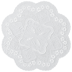 10 in White French Lace Doilies 1000 ct.
