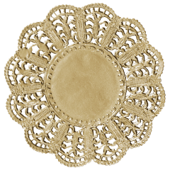 5 in Gold Foil Lace Doilies 500 ct.