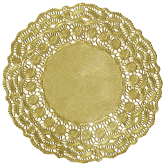 9.5 in Gold Foil Lace Doilies 500 ct.