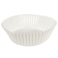5.5 in x 3 in  White Fluted Baking Cups 10000 ct.