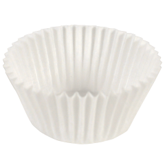 2.5 in White Fluted Baking Cups 2000 ct.