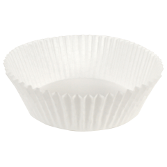 6.5 in White Fluted Baking Cups 5000 ct.