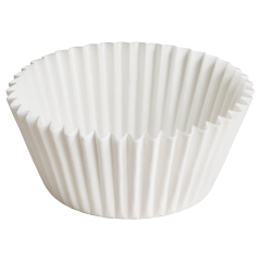 3.5 in White Fluted Baking Cups Zip Pack 10000 ct.