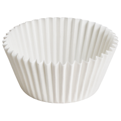 4.5 in White Fluted Baking Cups Zip Pack 10000 ct.