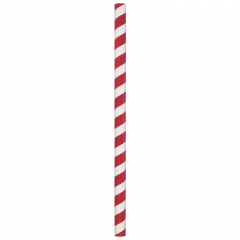 Red/White Stripe Compostable Giant Paper Straws