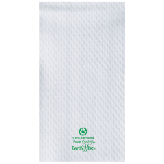 8.5 in x 4.5 in Embossed EarthWise White Guest Towels 3000 ct.