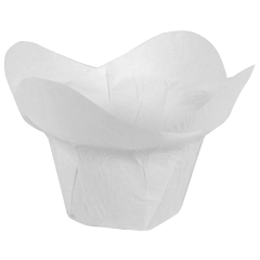 2.75 in Large White Paper Lotus Cups 2500 ct.