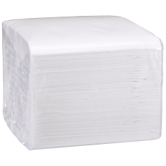 6.5 in x 6.5 in Linen-Like White Refill Napkins 200 ct.