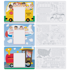 8.5 in x 12 in Kids Menu Multipack Placemats 1000 ct.