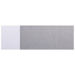 1.5 in x 4.5 in Silver Adhesive Napkin Bands 6000 ct.
