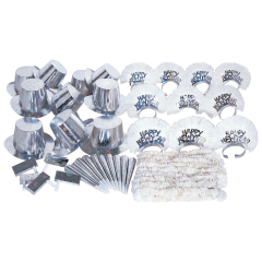 Assorted New Year's Silver Party Kit 1 ct.