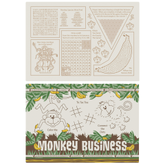 9.75 in x 14 in Monkey Business Placemats 1000 ct.