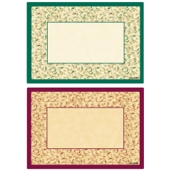 9.75 in x 14 in Fancy Swirl Duo Paper Placemats 1000 ct.