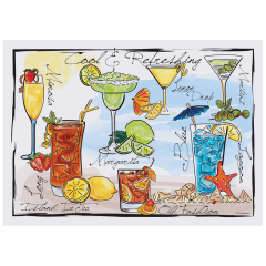 10 in x 14 in Cocktail Inspired Placemats 1000 ct.