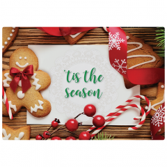 10 in x 14 in Linen Embossed Christmas Treats Placemats 1000 ct.