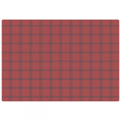 10 in x 14 in Linen Embossed Cranberry Plaid Placemats 1000 ct.