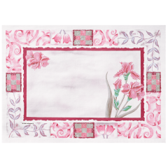 10 in x 14 in Maroon Floral Paper Placemats 1000 ct.