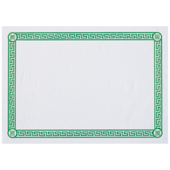 10 in x 14 in Greek Key Printed Placemats 1000 ct.