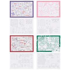 10 in x 14 in Kids Placemats 4 Designs Combo Pack 1000 ct.