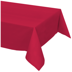 54 in x 108 in Red Plastic Tablecloths 12 ct.