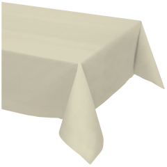 54 in x 108 in Ivory Plastic Tablecloths 12 ct.