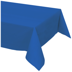 54 in x 108 in Blue Plastic Tablecloths 12 ct.