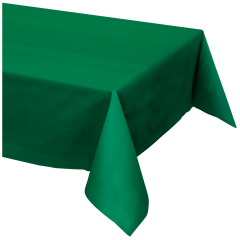 54 in x 108 in Hunter Green Plastic Tablecloths 12 ct.