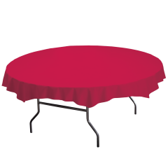 82 in Red Plastic Octy-Round Tablecloths 12 ct.