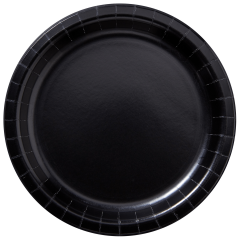 9 in Black Paper Plates 600 ct.
