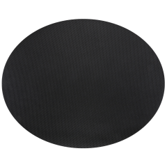19 in x 24 in Pebble Embossed Oval Black Spunbound Traymats 250 ct.
