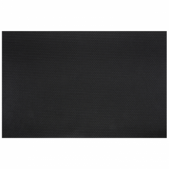 13.75 in x 21 in Pebble Embossed Black Spunbound Traymats 250 ct.