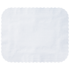 14 in x 19.25 in Scalloped Edge White Paper Traymats 1000 ct.