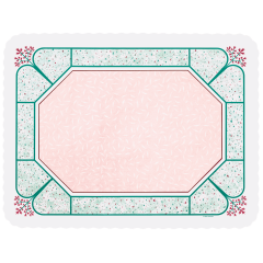 13 in x 17 in Scalloped Cobblestone Paper Traymats 1000 ct.