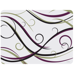13.75 in x 18 in Swirl Room Service Paper Traymats 1000 ct.